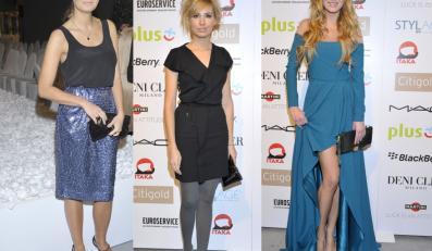 Gwiazdy na pokazie kolekcji Deni Cler Milano wiosna/lato 2012.