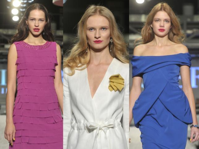 Dziewczyny z Top Model na pokazie kolekcji wiosna/lato 2012 Deni Cler Milano.