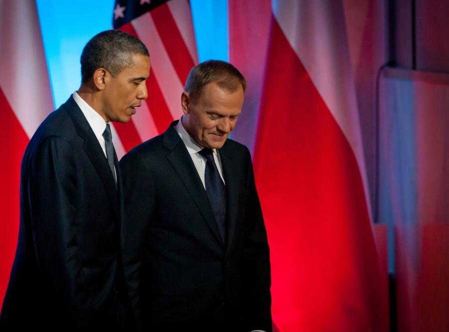 Prezydent USA Barack Obama i polski premier Donald Tusk
