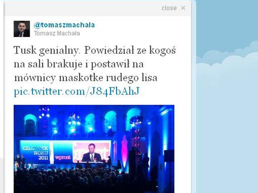 Tomasz Machała na Twitterze