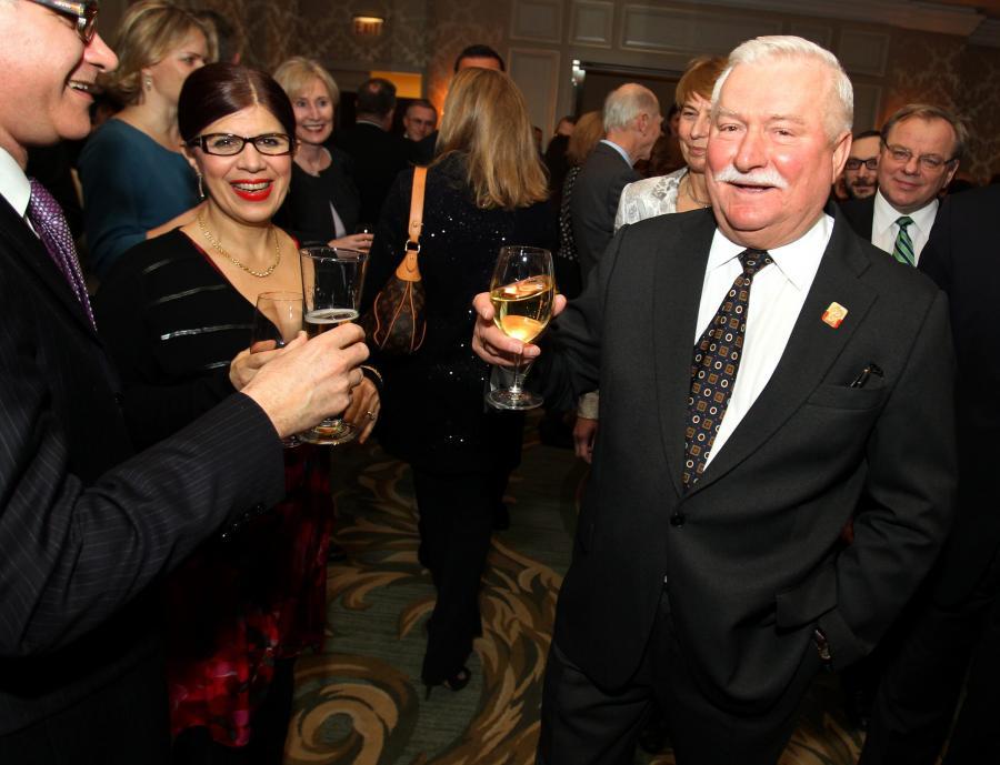 Lech Wałęsa odebrał nagrodę fundacji Abrahama Lincolna