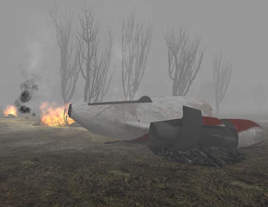 Fragment wirtualnej rekonstrukcji miejsca katastrofy