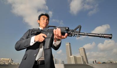 Członek japońskiej mafii yakuza