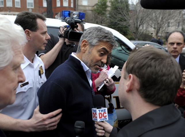 Aktor zatrzymany. George Clooney w kajdankach