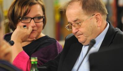 Beata Kempa i o. Tadeusz Rydzyk