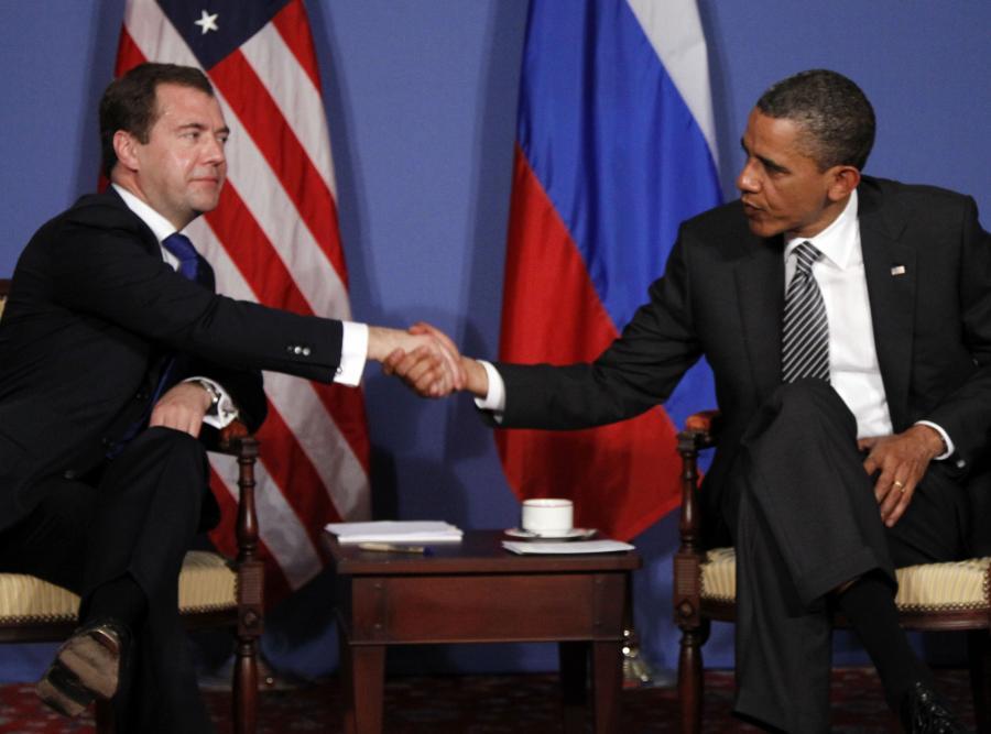 Dmitrij Miedwiediew i Barack Obama