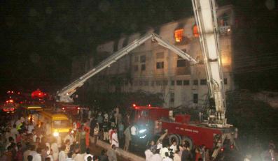 Pożar w pakistańskiej fabryce