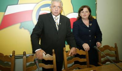 Andrzej Lepper i Renata Beger