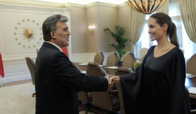 Angelina Jolie i prezydent Turcji Abdullah Gul