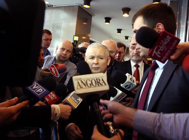 Jarosław Kaczyński przed posiedzeniem zespołu