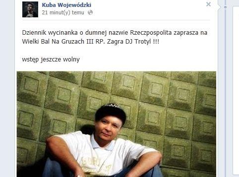 Lech Kaczyński jako DJ TROTYL