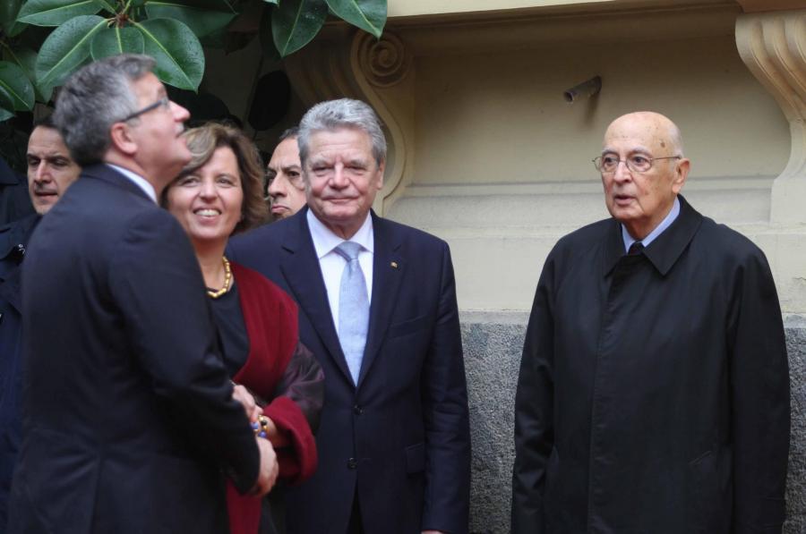 Prezydenci Polski, Niemiec i Włoch
