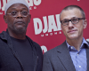 "Christoph Waltz i Samuel L. Jackson podczas promocji filmu ""Django"""