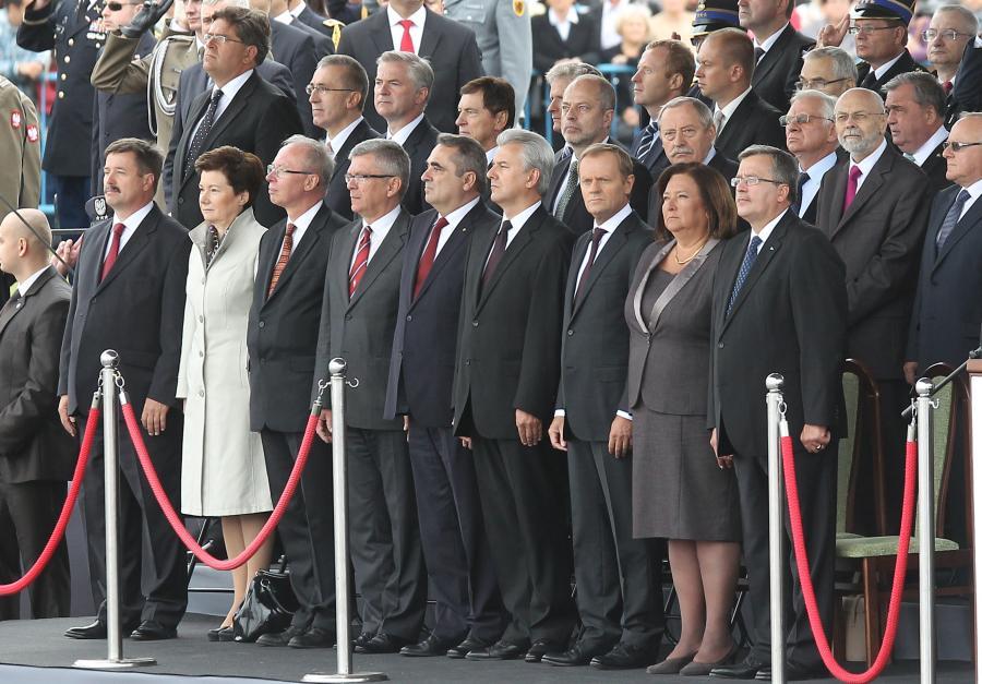 Oficjele podczas Święta Wojska Polskiego