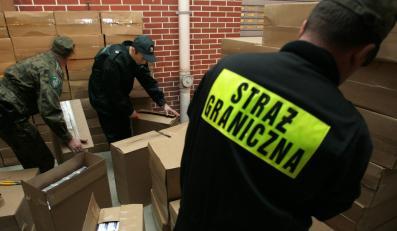 Straż Graniczna zarekwirowała kolejny transport przemycanych papierosów