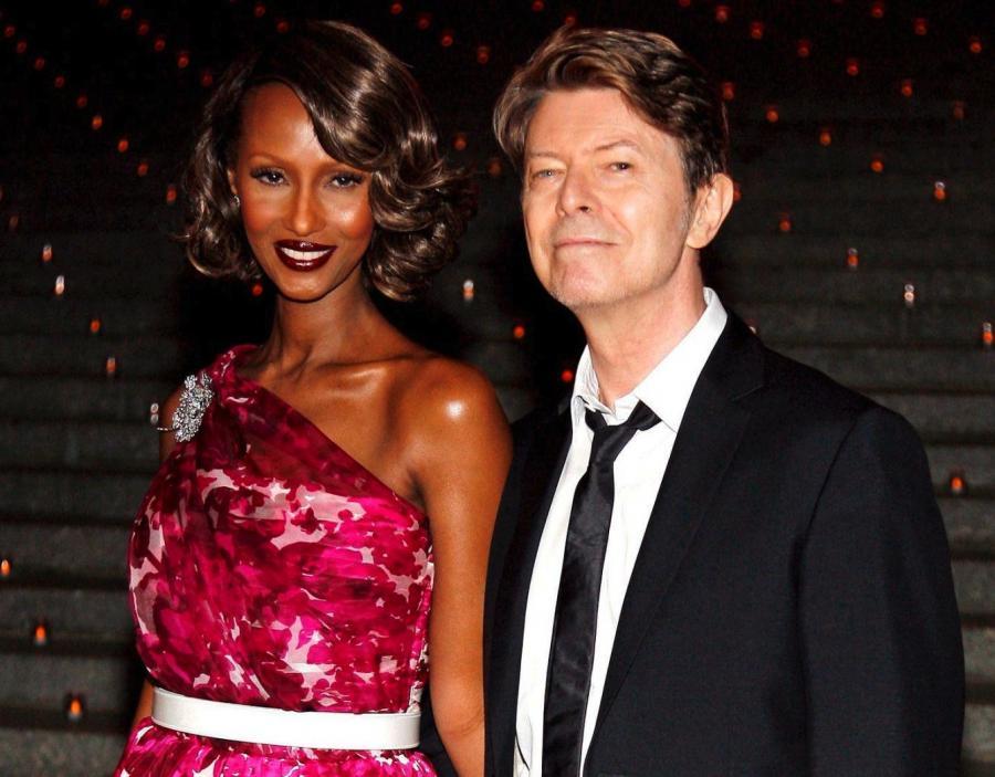 David Bowie z obecną partnerką - Iman