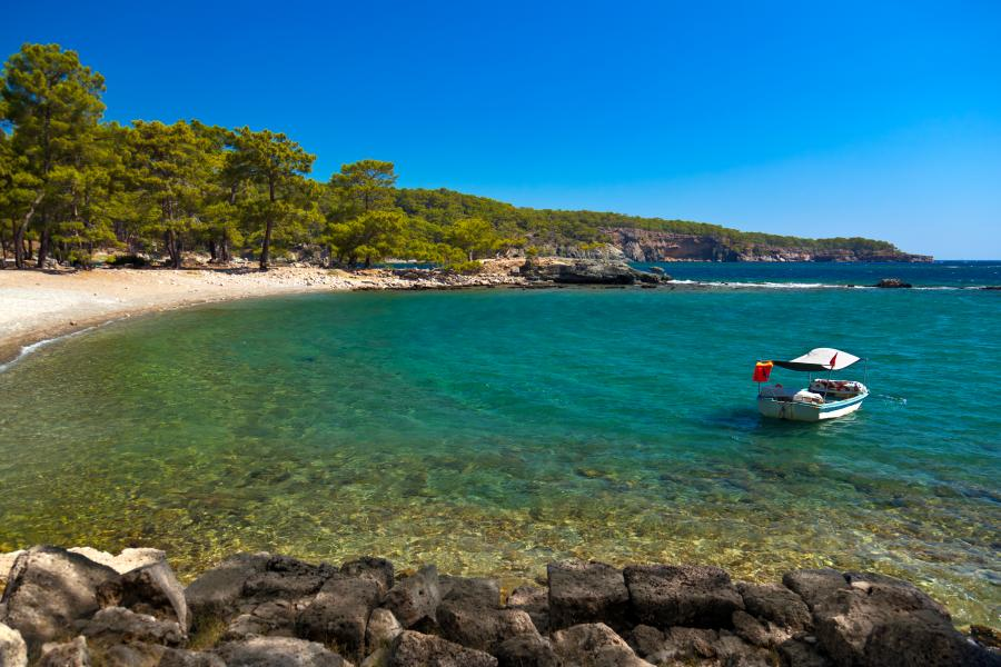 Phaselis Turcja plaża