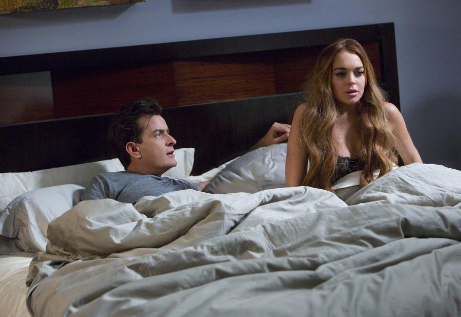 Lindsay Lohan w łóżku z Charliem Sheenem