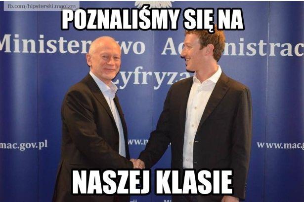 Memy z wizyty Marka Zuckerberga u Michała Boniego