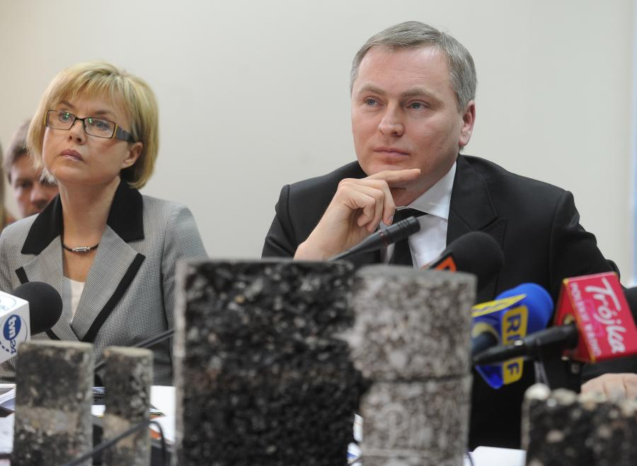 Rzeczniczka Urszula Nelken i szef GDDKiA Lech Witecki