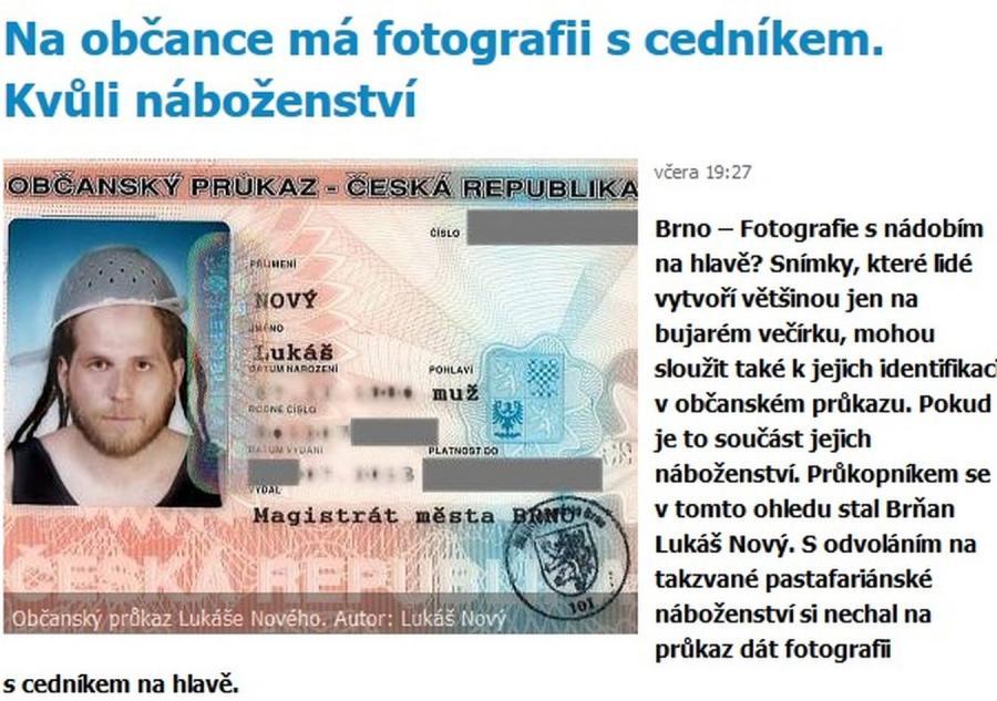 Lukáš Nový i jego dowód osobisty