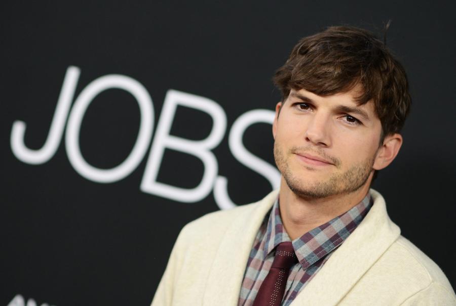 Ashton Kutcher na premierze filmu \