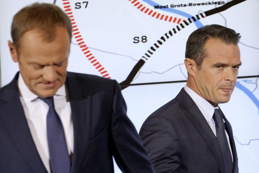 Donald Tusk i Sławaomir Nowak