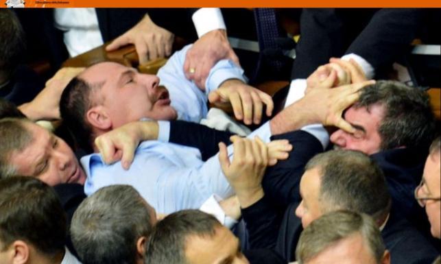 Parlamentarne MMA: Walka polityków... na pięści