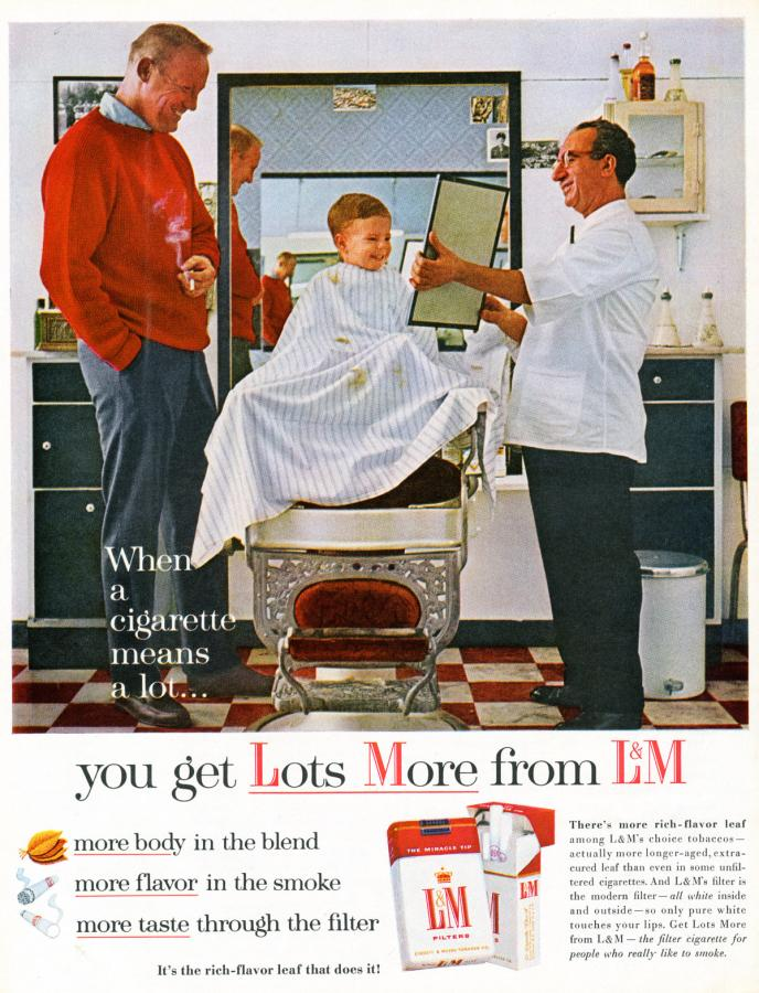 """Papierosy """"L&M"""", rok 1962"""