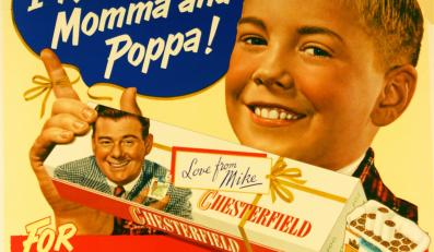"Papierosy ""Chesterfield"", rok 1950"