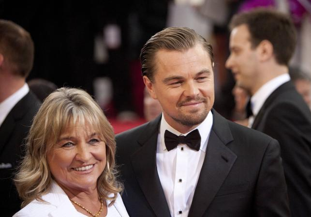 Leonardo DiCaprio (jak prawie zawsze) z mamą Irmelin DiCaprio na gali Złotych Globów 2014