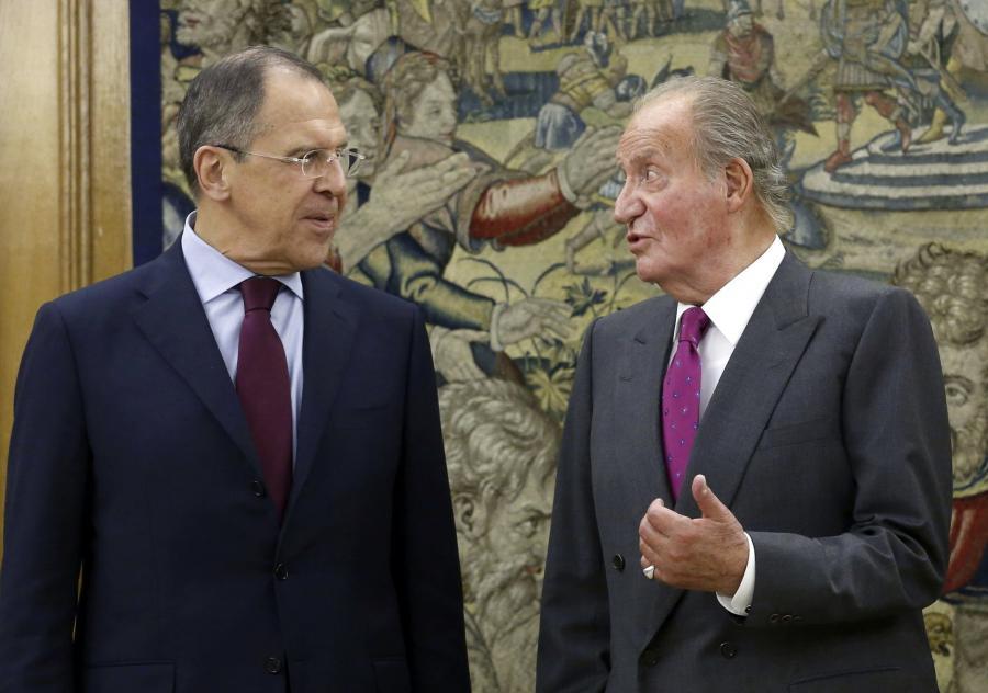 Siergiej Ławrow i król Juan Carlos