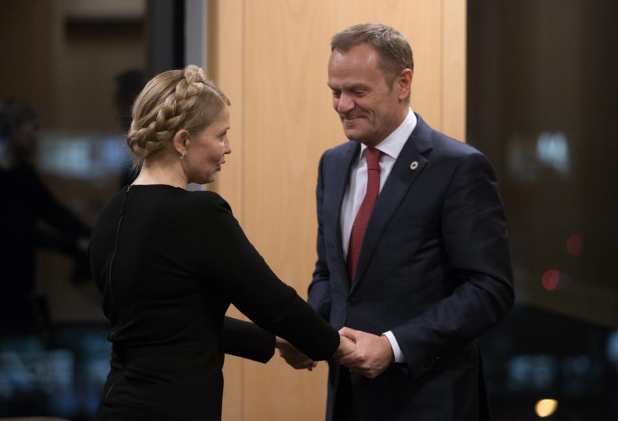 Julia Tymoszenko i Donald Tusk