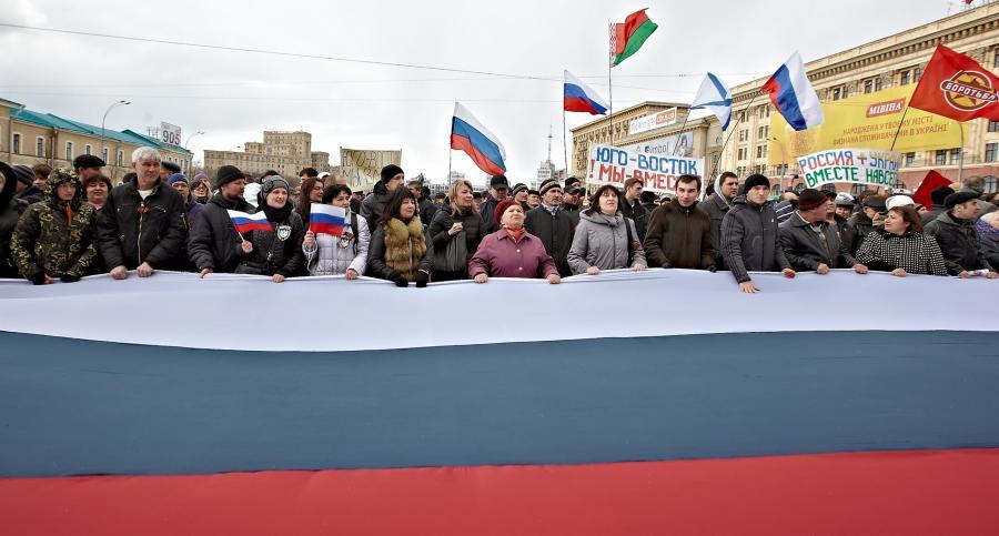 Prorosyjska demonstracja w Charkowie