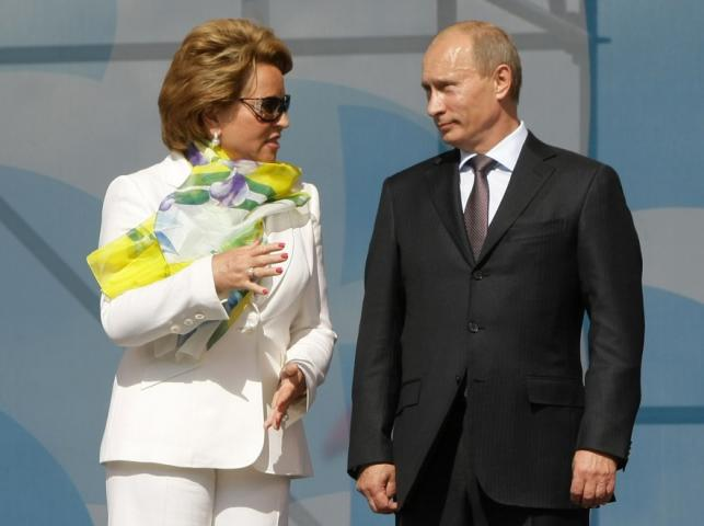 Walentina Matwijenko i Władmir Putin - 12 lipca 2009 r.