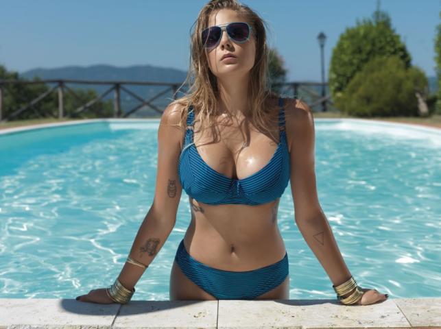Marta Wierzbicka w kampanii reklamowej strojów kąpielowych Dalia na lato 2014