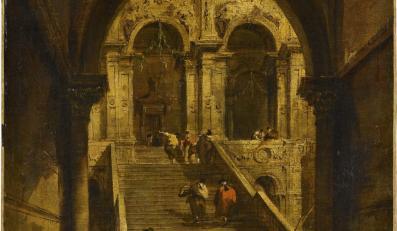 """""""Schody pałacowe"""" Francesco Guardiego"""
