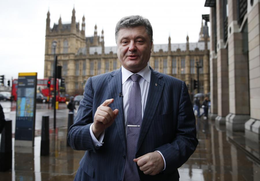 Petro Poroszenko w Londynie