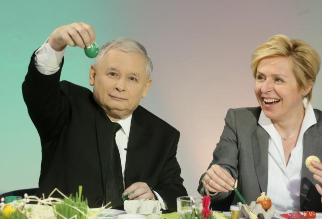 Prezes PiS Jarosław Kaczyński i posłanka PiS Jadwiga Wiśniewska