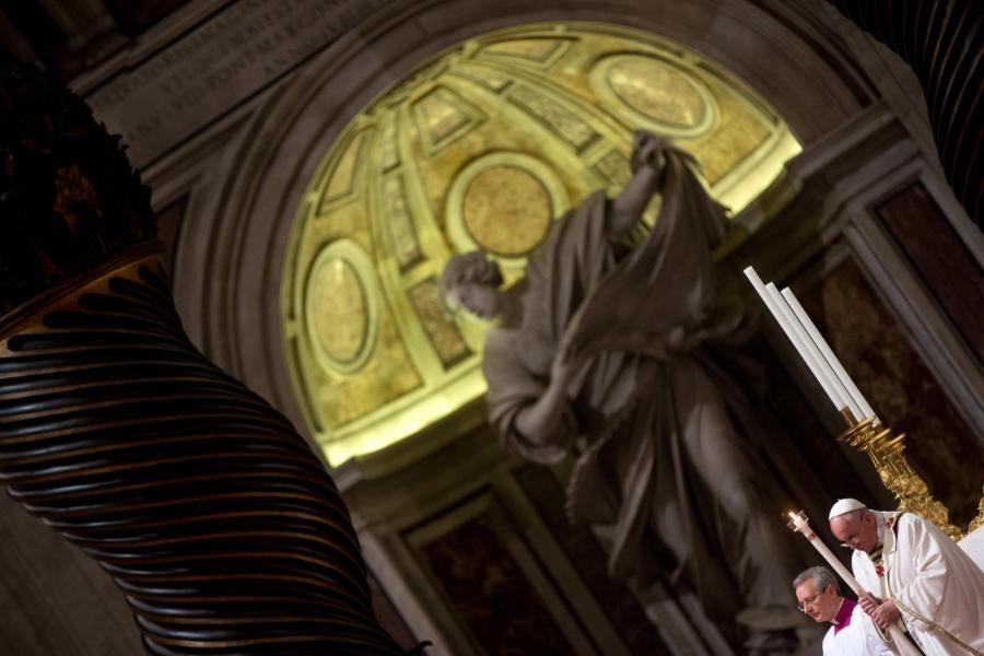 Papież Franciszek w Bazylice św. Piotra