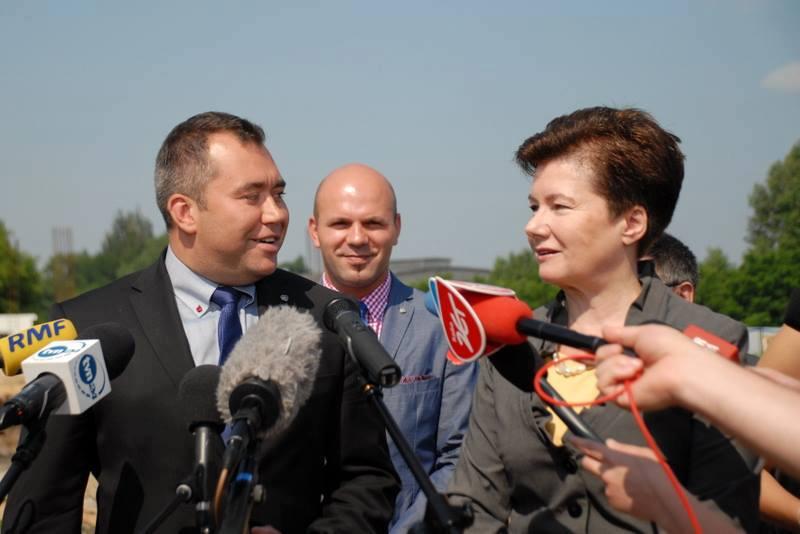 Jarosław Dąbrowski i Hanna Gronkiewicz-Waltz