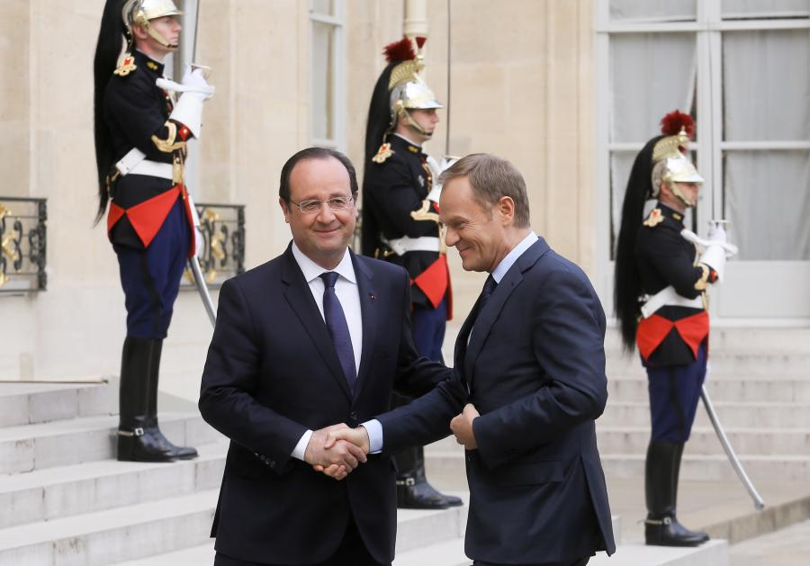 Donald Tusk i Francois Hollande