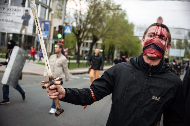 Prorosyjki separatysta z Doniecka