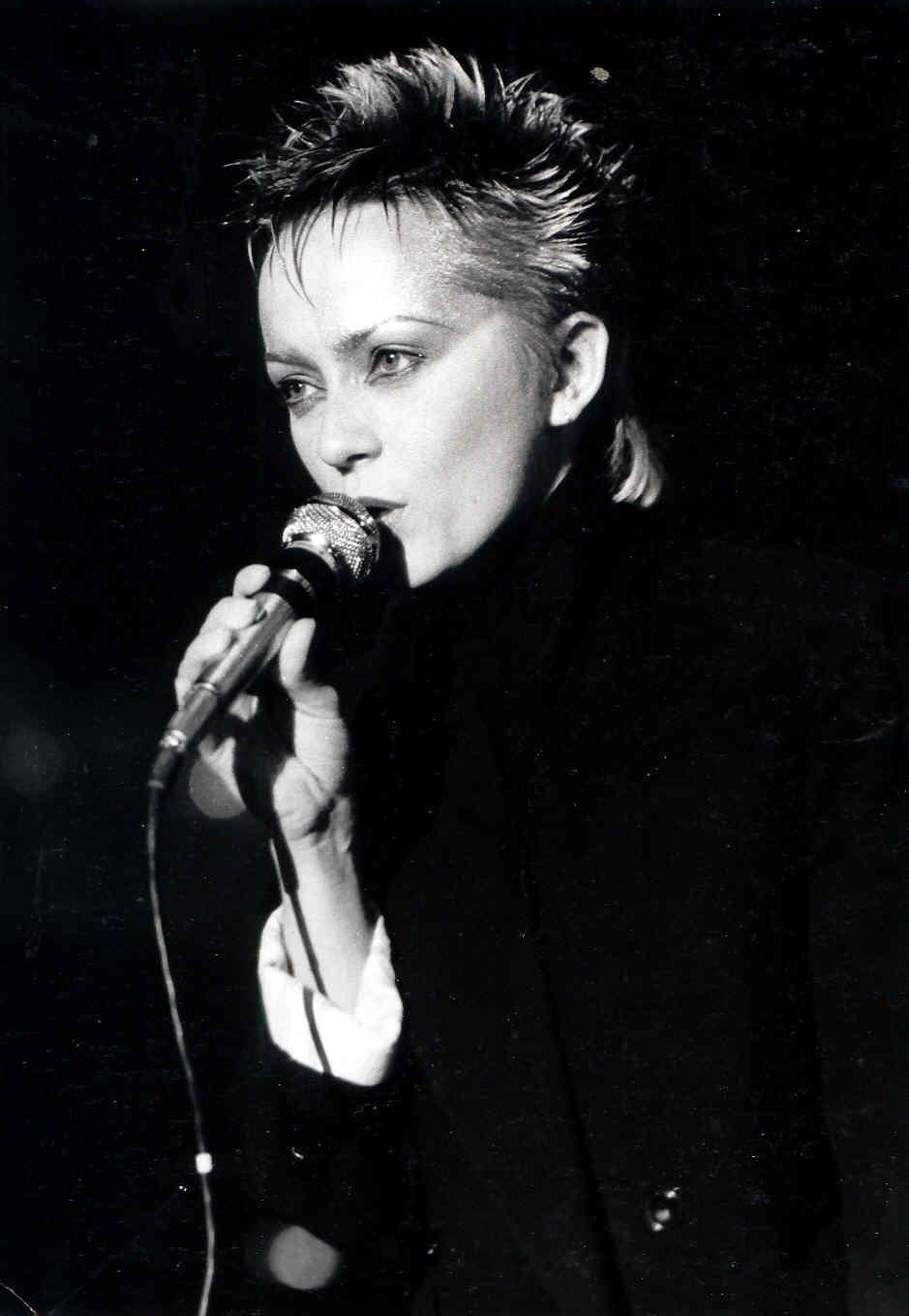 Małgorzata Ostrowska na festiwalu Opole'83 (foto z archiwum artystki)