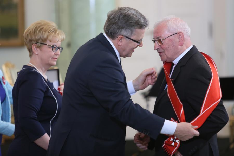 Prezydent Bronisław Komorowski i bp Tadeusz Pieronek