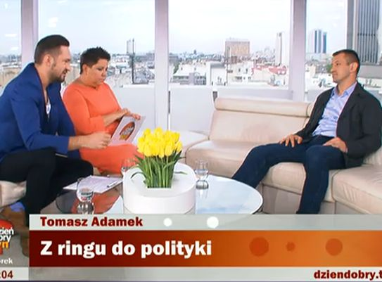 Tomasz Adamek kontra Marcin Prokop i Dorota Wellman w \