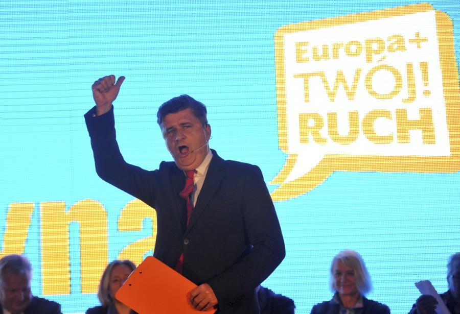 Lider Twojego Ruchu Janusz Palikot podczas konwencji wyborczej