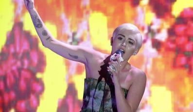 Miley Cyrus podczas występu na gali World Music Awards 2014 w Monte Carlo