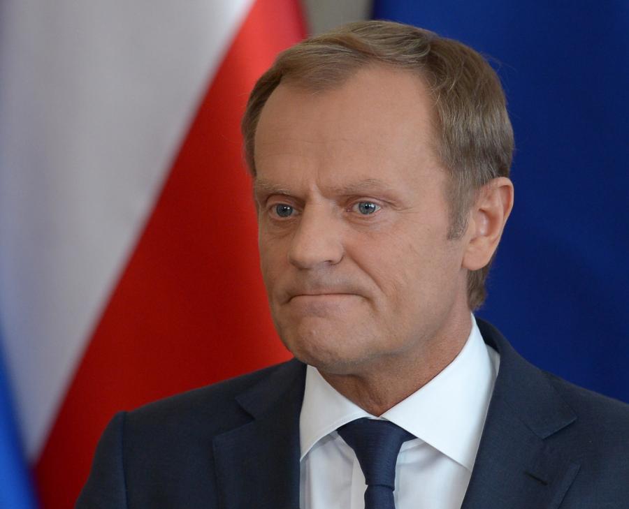 Premier RP Donald Tusk podczas konferencji prasowej nt. nagrań rozmów polityków upublicznionych przez tygodnik \