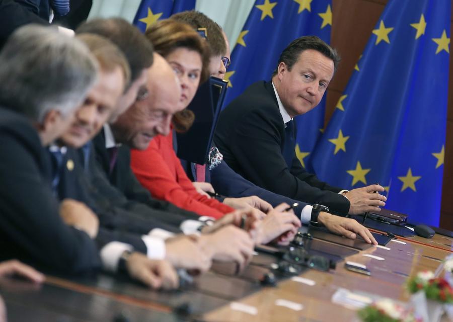 David Cameron na posiedzeniu Radu Europejskiej